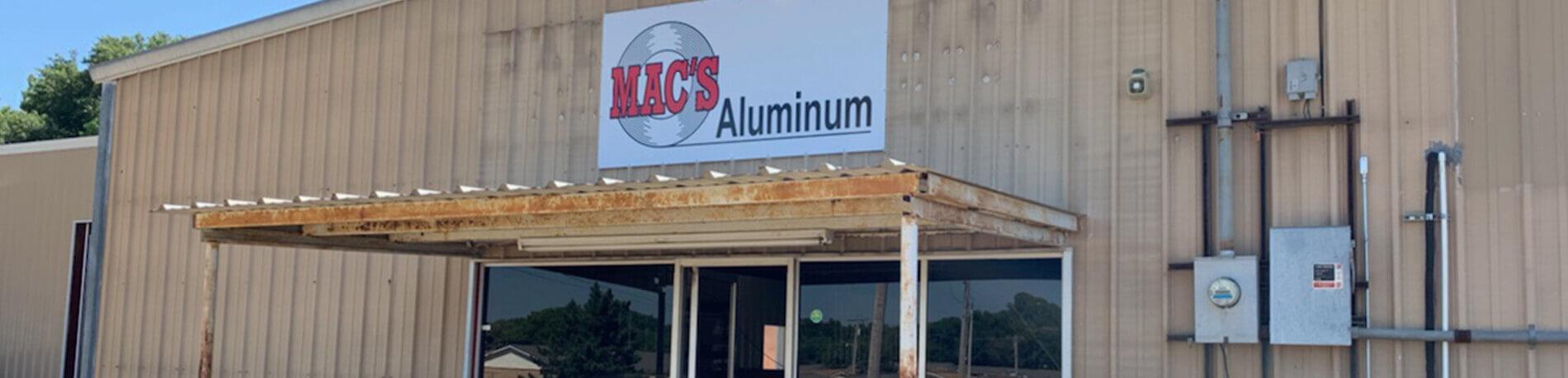 Mac's Aluminum store-front
